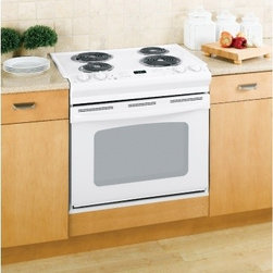 """GE - JDS28DNWW 30"""" Drop-In Electric Range with 4 Coil Elements  4.4 cu. ft. Oven Capa - GE Consumer and Industrial spans the globe as an industry leader in major appliance lighting and integrated industrial equipment systems and services They provide solutions for commercial industrial and residential use in more than 100 countries whic..."""