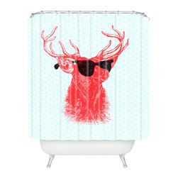 DENY Designs - Nick Nelson Young Buck Shower Curtain - Who says bathrooms can't be fun? To get the most bang for your buck, start with an artistic, inventive shower curtain. We've got endless options that will really make your bathroom pop. Heck, your guests may start spending a little extra time in there because of it!
