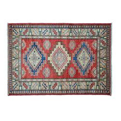 1800GetARug - Oriental Rug Super Kazak Hand Knotted Rug Tribal Design Sh11122 - About Tribal & Geometric