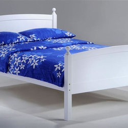 Night & Day Furniture - Licorice Full Bed in White - Bed includes head/foot, rails, slats. 100% Malaysian Rubberwood construction. Warranty: 5 years. White finish. 57 in. W x 80.6 in. D x 40.9 in. H (50.7 lbs.)Licorice! Yummy, chewy and so so good. It's sometimes sweet, sometimes salty, sometimes red, but mostly black. Licorice's delightful variations keep it forever a favorite. So naturally, for our timeless Licorice Bed such a tasty confection brings on all its sweet associations.Take care of your kids' needs for beds, bunks and storage with our Zest Bedroom Collection for Night and Day. Smart quality at extraordinary value. We have gone to great lengths to design and engineer this complete line to keep your cost down and your pleasure up.
