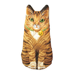 Boston Warehouse - Kitten Quilted Cotton Oven Mitt - Add a whimsical touch to your kitchen with the Kitten oven mitt. This high-quality quilted cotton oven mitt highlights a charming brown cat design that you simply can't get enough of.