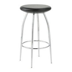 "Eurostyle - Rizzo Counter Stool (Set of 2) - Dynamic, comfortable, and impossibly thin, the Real Good Stool is surprisingly sturdy. The seat is powder-coated steel with laser-cut lines which ships flat and assembles in no time. Available in counter or bar height, this stool will fit well in any area. Choose from all-over satin black or glossy red, an aqua seat with blue legs, or an ivory seat with grey legs. A water thin seat pad makes a perfect accessory for the stool. Its slim profile won't spoil the clean lines, and magnets and non-slip rubber cleverly hold it in place. The seat pad is available in a black or white leather alternative. Features: -Choose from counter height or bar height. -Powder-coated steel. -Ships flat in an easy-to-carry box. -Laser-cut lines allow for easy assembly. Dimensions: -Overall Counterstool Dimensions: 33.5"" H x 18"" W x 18""D. -Seat Height: 24.5"". -Seat Depth: 15.25"". -Overall Barstool Dimensions: 41.5"" H x 18.75"" W x 17.75""D. -Seat Height: 30.5"". -Seat Depth: 15.25"". -Seat Pad Dimensions: 0.5"" H x 17.5"" W x 15.25"" D. Order with Confidence: -Should you discover shortly after receiving your Blu Dot Real Good Stool that parts are either damaged or missing, please call us immediately, and we will be happy to send you replacement parts as soon as possible and at no additional cost.. -Note: There is a 5% Blu Dot bulk freight fee on this item."