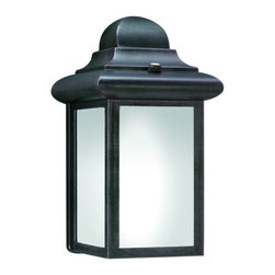 "Thomas Lighting - Thomas Lighting PL9480 Energy Star Rated Traditional / Classic Outdoor Wall Scon - One-light die-cast aluminum Energy Star outdoor wall bracket with etched glass120V Electronic Ballast.Photocell included.Extends: 4-1/2"", height from center of outlet box: 4-3/4""1 CFQ13W, G24Q Base"