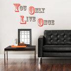 New for Back to School & Dorm Room Decor - YOLO You Only Live Once wall quote New for Back to School & Dorm Room Decor