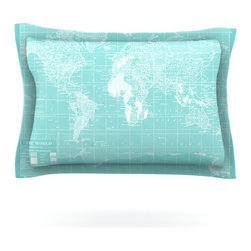 """Kess InHouse - Catherine Holcombe """"Welcome to my World"""" Pillow Sham (Cotton, 40"""" x 20"""") - Pairing your already chic duvet cover with playful pillow shams is the perfect way to tie your bedroom together. There are endless possibilities to feed your artistic palette with these imaginative pillow shams. It will looks so elegant you won't want ruin the masterpiece you have created when you go to bed. Not only are these pillow shams nice to look at they are also made from a high quality cotton blend. They are so soft that they will elevate your sleep up to level that is beyond Cloud 9. We always print our goods with the highest quality printing process in order to maintain the integrity of the art that you are adeptly displaying. This means that you won't have to worry about your art fading or your sham loosing it's freshness."""