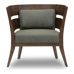 Bryght - Mier Cocoa Lounge Chair - The Mier lounge chair is simple yet modern in its appeal. A lovely wood frame with wide slats sets the tone for a great looking seat that's comfy with detachable cushions. A contemporary wooden tub chair design, that will look great in every living space.