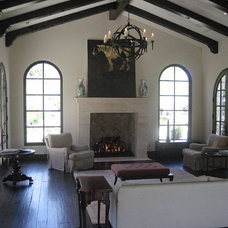 Mediterranean Living Room by Carson Poetzl, Inc.