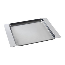 """Alessi - Alessi """"Programma 8"""" Tray - Life can be a little like this intuitively designed serving tray: Just grab hold and carry on. Thanks to the tray's extended sides, it gives you the comfort and support you need to go from kitchen to table without a hitch."""