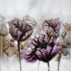 Yosemite - Yosemite FCF6476Q-2 Burgeoning Blossoms II Wall Art - Yosemite FCF6476Q-2 Burgeoning Blossoms II Wall ArtIntriguing, contemporary floral painted in subtle tones of gray, lavender, rose, and brown on a softly washed background. Yosemite FCF6476Q-2 Features: