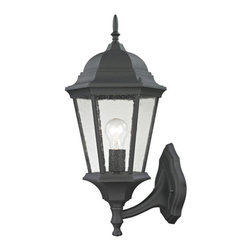 Cornerstone - Cornerstone Temple Hill 8111EW/65 Coach Lantern Large in Matte Texetured Black - 8111EW/65 Coach Lantern Large in Matte Texetured Black belongs to Temple Hill Collection by Cornerstone Outdoor Wall Sconce (1)