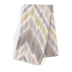 Gray & Yellow Large Ikat Chevron Custom Napkin Set - Our Custom Napkins are sure to round out the perfect table setting'whether you're looking to liven up the kitchen or wow your next dinner party. We love it in this giant ikat chevron in pastel grays & yellows on smooth sateen. this flamestitch will set your decor ablaze.