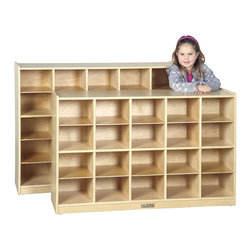 Ecr4kids - Ecr4Kids School/Daycare Toy Storage Cabinet With 20 Tray Cubbies - 20-Cubbie Classroom Storage Cabinet (with Casters)