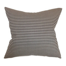 Pillow Collection - The Pillow Collection Lviv Houndstooth Pillow - P18-PP-HOUNDSTOOTCH-POWDERGREY - Shop for Pillows from Hayneedle.com! Professional style gets comfy! The Pillow Collection Lviv Houndstooth Pillow has an uptown houndstooth design in your choice of smart color options. A great way to bring attention to your sofa or bed! The cover is made of natural cotton the filling is a luxurious blend of feather and down. Dry clean only.About The Pillow CollectionIdentical twin brothers Adam and Kyle started The Pillow Collection with a simple objective. They wanted to create an extensive selection of beautiful and affordable throw pillows. Their father is a renowned interior designer and they developed a deep appreciation of style from him. They hand select all fabrics to find the perfect cottons linens damasks and silks in a variety of colors patterns and designs. Standard features include hidden full-length zippers and luxurious high polyester fiber or down blended inserts. At The Pillow Collection they know that a throw pillow makes a room.