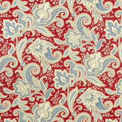 Waverly Rustic Retreat Federal Fabric - Americana at its best, this is the perfect patriotic fabric for a beach house or perhaps a table cloth for a July 4th gathering.