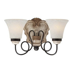 Minka Lavery - Minka Lavery 1292 2 Light Bathroom Vanity Light with White Patina Shade from the - Two Light Bathroom Vanity Light with White Patina Shade from the Accents Provence CollectionFeatures: