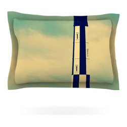 """Kess InHouse - Robin Dickinson """"New Cape Henry"""" Lighthouse Pillow Sham (Cotton, 40"""" x 20"""") - Pairing your already chic duvet cover with playful pillow shams is the perfect way to tie your bedroom together. There are endless possibilities to feed your artistic palette with these imaginative pillow shams. It will looks so elegant you won't want ruin the masterpiece you have created when you go to bed. Not only are these pillow shams nice to look at they are also made from a high quality cotton blend. They are so soft that they will elevate your sleep up to level that is beyond Cloud 9. We always print our goods with the highest quality printing process in order to maintain the integrity of the art that you are adeptly displaying. This means that you won't have to worry about your art fading or your sham loosing it's freshness."""