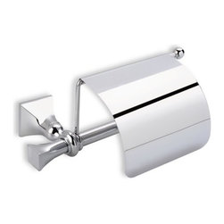 StilHaus - Classic-Style Brass Toilet Roll Holder with Cover - Toilet roll holder with cover in chrome, bronze, or satin nickel finish. Wall mounted toilet roll holder with cover. Made of brass with a chrome, bronze, or satin nickel finish. From StilHaus Prisma Collection.