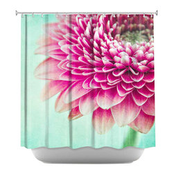 DiaNoche Designs - Colorful Spring Shower Curtain - Sewn reinforced holes for shower curtain rings. Shower curtain rings not included. Dye Sublimation printing adheres the ink to the material for long life and durability. Machine washable. Made in USA.