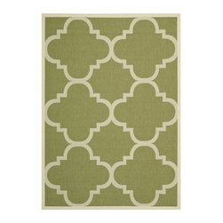 Safavieh - Safavieh Courtyard Rug with Green / Beige X-5-442-3426YC - Safavieh takes classic beauty outside of the home with the launch of their Courtyard Collection. Made in Turkey with enhanced polypropylene for extra durability, these rugs are suitable for anywhere inside or outside of the house. To achieve more intricate and elaborate details in the designs, Safavieh used a specially-developed sisal weave.