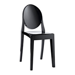 Anywhere Chair in Black - Sit down in the artfully crafted Anywhere Chair. Its sturdy frame allows you to use it outdoors under the warm sun, while its graceful appearance makes the Anywhere Chair wonderful to use in the dining room.