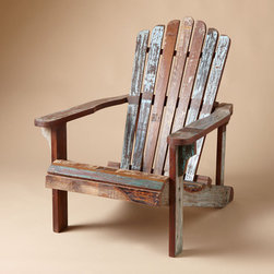Distressed Adirondack Chair - On my bucket list: have an outdoor space someday where I'd kick back in one of these reclaimed wood Adirondack chairs and watch the sunset (sipping a mint lemonade with fresh mint from the garden, of course).