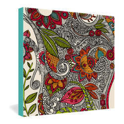 "DENY Designs - Valentina Ramos Random Flowers Gallery Wrapped Canvas - Want your home to show like a museum? Look no further than the gallery wrapped canvas collection! Each Gallery Wrapped Canvas from DENY is made with UV resistant archival inks and is individually trimmed and professionally stretched over 1-1/2"" deep wood stretcher bars. We also throw in the mounting hardware so that when you get it, it's a piece of cake to hang on your wall. The only thing you'll need after your purchase is the cool gallery laser beam security to protect it."