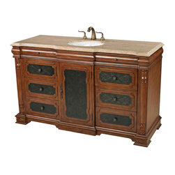 Sterling Industries - Sterling Industries 88-9015 Walnut Tone Single Vanity Unit - Vanity Unit (1)