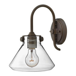 Hinkley Lighting - Hinkley Lighting 3176OZ Hinkley Lighting 3176BC Brushed Caramel 1 Light Indoor W - Hinkley Lighting 317 Congress Wall Sconce with Cone Shaped Shade Congress is a traditional design that combines both hip and historical elements. This
