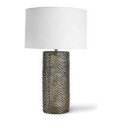 Regina Andrew - Regina Andrew Chain Link Cylinder Lamp - Chain Link Cylinder Lamp by Regina Andrew.Needs 1 Type A bulb.