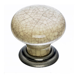 Top Knobs - Crackle Cabinet Knobs - Top Knobs item number M100 is a beautifully finished Crackle Cabinet Knob.