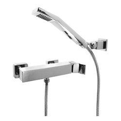 Surf Diamond Bathroom Hand Held Shower & Diverter Combo, Polished Chrome