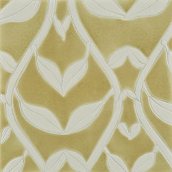 Perennial Ceramic Art Tile - Ann Sacks Tile & Stone - Most of the time when you see a mosaic like this, it's a laser cut stone mosaic, that's why I'm in love with this ceramic mosaic from Perennial. The watery glazes and the modern and organic patterns are just stunning. I'd love to see a whole wall in a kitchen with this tile.