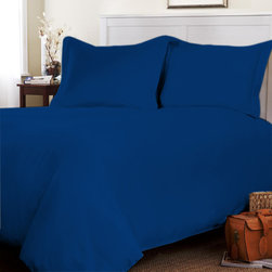 Egyptian Cotton Sheet Set With Duvet Set 300 TC Solid (Twin, Royal Blue) By Fant - Set include 1 Fitted sheet (39 x 80 inches), 1 Flat sheet (66 x 96 inches), 1 Duvet Cover (68x90 Inches) and 4 Standard pillowcases (20x 30 inches) only.