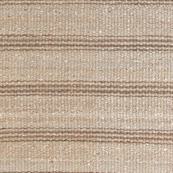 Area Rugs - Natural jute are rugs with light brown stripes at J Brulee Home.  www.jbrulee.com