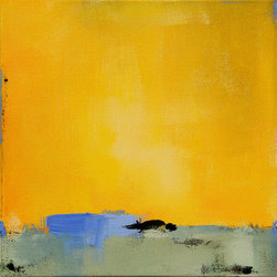 Good Day Sunshine (Original) By Jacquie Gouveia - This contemporary landscape painting is filled with bright warm sunshine!