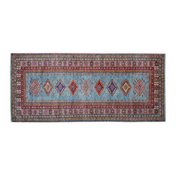 1800 Get A Rug - 100% Wool Hand Knotted Oriental Rug Runner Tribal Design Super Kazak Sh15244 - Our Tribal & Geometric Collection consists of classic rugs woven with geometric patterns based on traditional tribal motifs. You will find Kazak rugs and flat-woven Kilims with centuries-old classic Turkish, Persian, Caucasian and Armenian patterns. The collection also includes the antique, finely-woven Serapi Heriz, the Mamluk Afghan, and the traditional village Persian rug.
