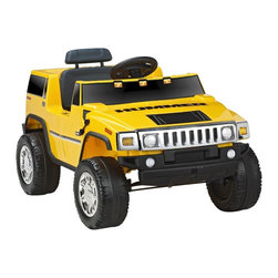 National Products - Kid Motorz Hummer H2 Battery Powered Riding Toy - Yellow Multicolor - 0571 - Shop for Tricycles and Riding Toys from Hayneedle.com! Be master of the road or at least the neighborhood park with the Hummer H2 One Seater. This vibrant yellow riding toy features realistic decals and chrome accents to make it the most authentic Hummer riding toy around. Included is a 6V battery and UL listed charger. Assembles in minutes because any longer wouldn't be fun.About National ProductsAs recognized by peers National Products company is both a reputable and reliable working partner as well as supplier in the toy and ride-on industry. Most importantly not just children have fun with National Products ride-on products; parents also appreciate the detailed life-like quality and safety of the innovative designs. National meets or exceeds all safety/quality control government guidelines.