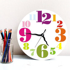 Contemporary Kids Clocks by Etsy