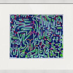 Kourosh Amini - Original Art Works By Kourosh Amini, Adjacent Green - Artist: Kourosh Amini