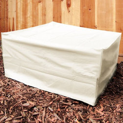 Square Fire Pit Covers - Heavy Duty Square Fire Pit Covers in Black or Beige