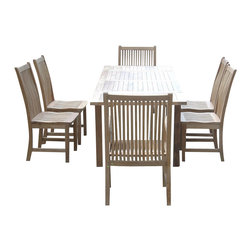 "Anderson Teak - Bahama 95"" Rectangular Table with Double Leaf Extensions - This solid Teak ""Rectangular Extension Table"" makes the perfect addition to your backyard. Our extension table begins as a 59in. long rectangular and easily extends with detachable leaves to a 95in. long rectangular in less than 15 seconds. The table can be extend with 1 or 2 leaves, seats 6 to 10 people. Available with umbrella hole. After all, it is perfect for your party family and friends gathering."