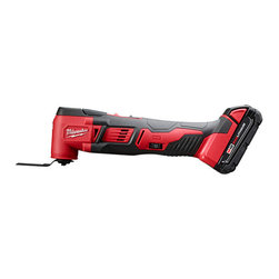 "Milwaukee Electric Tools - Kit Multi-Tool M18 Cp - Powerful motor delivers 11,000-18,000 Rpm. Redlithium battery for more work per charge and longer life. Tool free blade change offers faster changes and no tools to misplace. Built-in LED light illuminates dark work spaces. 13-1/4"" length weighs only 3.55   lbs. All metal gear case provides high jobsite durability. Ideal for remodelers, flooring contractors, maintenance repair technicians and electricians. The cordless Multi-tool cuts, grinds, sands and scrapes at odd angles and in areas difficult to work.   Tool allows you to makes flush or plunge cuts, remove grout, sand in corners and tackle other awkward jobs. Kit includes: (1) M18 Cordless Lithium-Ion multi tool, (2) M18 Redlithium compact batteries, (1) M18 and M12 Multi-voltage charger,   (1) adapter, (5) assorted sanding sheets, (1) sanding pad, (1) wood cutting blade and (1) contractor bag.        This item cannot be shipped to APO/FPO addresses.  Please accept our apologies"