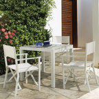 Outdoor Dining Furniture - The Weekend outdoor casual table and chairs is available is perfect for almost any size of outdoor space.