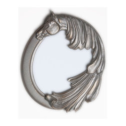 Stardust horse Mirror - Mirror with a dreamy horse. For the equine or equestrian minded.