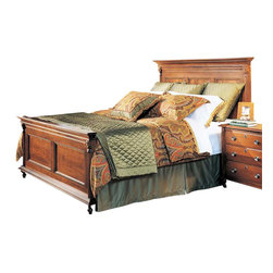 Durham Furniture - Durham Furniture Savile Row Queen Panel Bed in Victorian Mahogany - Durham Furniture has been making solid wood furniture of the highest quality and enduring value since 1899. Our proud legacy of quality, integrity and dependability places us among North America&rsquos premier manufacturers of fine furniture.