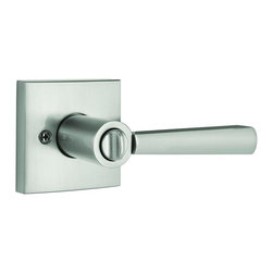 Baldwin Hardware - Prestige Spyglass Bed/Bath Lever in Satin Nickel (353Spl Sqr 15 Cp 6Al) - Baldwin is taking door hardware to the next level. Our new Spyglass family offers affordable luxury with effortless style. The contemporary inspired lever and square raised offer transitional style with a clean aesthetic and modern lines.