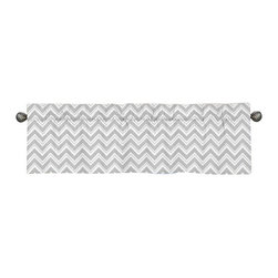 Sweet Jojo Designs - Zig Zag Turquoise and Gray Window Valance by Sweet Jojo Designs - The Zig Zag Turquoise and Gray Window Valance by Sweet Jojo Designs, along with the  bedding accessories.