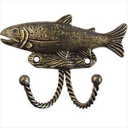 Sierra Lifestyles Decorative Hook - Trout - Bronzed Black - Get Idea About Sierra Lifestyles Decorative Hook - Trout - Black. Sierra Lifestyles  Cabinet Hardware, Cabinet  Knobs, Cabinet Pulls , Switch plates, Rustic cabinet hardware, Double Hook, Hook, Decorative Hook, Knobs, Pulls and Decorative Hardware Accessories
