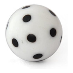 "Knobco - Polka Dotted Glass Knob, White knob with Black Polka Dots - White knob with Black Polka Dots glass knob. Unique glass knobs for your kitchen cabinets. 1"" in   diameter. Includes screws for installation."