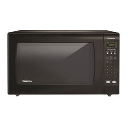 Panasonic - Panasonic 2.2 Cubic Foot Black Microwave - Take the guesswork out of creating a meal with this 1250-watt,2.2 cubic foot Panasonic Genius Sensor microwave oven. Inverter technology delivers a seamless stream of power for precision cooking.